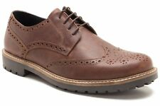 Mens Red Tape Rydal Wood Leather Shoes Smart Work Casual Brogue Shoe UK 9