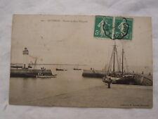 Ancienne carte postale de Quiberon Port Haliguen entrée du port