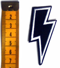 Thunder and Lightning Bolt Embroidered Iron Sew On Patch Heavy Metal Biker Rock