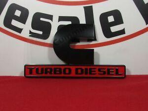 19-21 RAM 2500 3500 4500 5500 Black Cummins Turbo Diesel Nameplate NEW OEM MOPAR