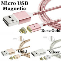 2.4A Metal Magnetic Micro USB Charger Adapter Charging Cable For Phone Tablet
