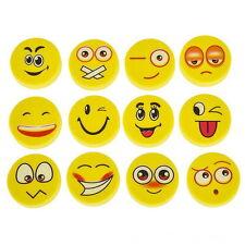 18 Emoji Emoticon Erasers, Smile Eraser 1' Size, Great Party Favor, School, Camp