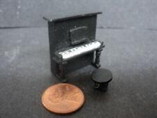 DOLLHOUSE PIANO- BLACK- QUARTER INCH SCALE (1:48TH SCALE)