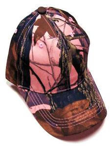 Camouflage Camo Hardwoods RealTree Women's Pink Hat Cap Range Hunting Fishing
