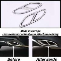 Chrome Rear cylinder exhaust pipe Cover Trim Mercedes GLE W166 SUV (US205