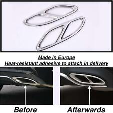 Chrome Rear cylinder exhaust pipe Cover Trim Mercedes GLC X253 SUV  (US205