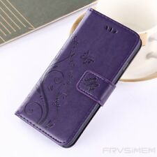 Womens Ladies Magnetic Flip Floral Print Silicone Leather Case Cover For iPhone