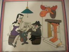 """Rocky and Bullwinkle animation cel """"Sneaky P 00006000 lan """""""