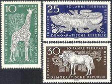 Alemania 1965 Lagarto/Jirafa/ñus/ANIMALES/ZOO/Naturaleza/vida salvaje 3 V Set n43601