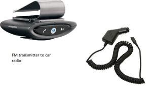MotoRola T505 Bluetooth FM radio transmitter to-Car stereo Speaker phone +Clip