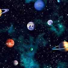 Tapete Planeten Sterne Sonnensystem Weltraum 3D Weltraum Weltall Kinderzimmer