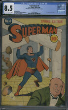 D.C. Comics Superman #4 Spring 1940 CGC 8.5 (2nd appearance of Luthor)