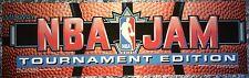 "NBA Jam Tournament Edition Dedicated Arcade Marquee 25"" x 7.5"""