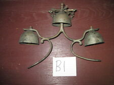 Set of 3 Bells - Antique Horse Parade Show Sleigh Bells 19th Century