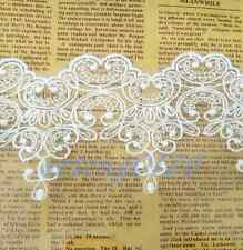 1Yd Cotton Embroidered Tulle Lace Trim Mesh Ribbon Wedding Bridal Sewing White