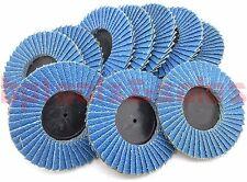 """(10) 3"""" Zirconia Oxide 100 Grit Roll & Lock Sanding Flap Disc Abrasive Type R"""