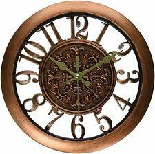 Vintage Wall Clock Retro Style Shabby Chic Steampunk Silent Quartz Rustic