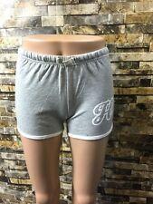 """Hustler Women's Yoga Shorts """"Hustler Honey"""" -- Gray"""