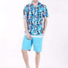 Mens' Hawaii Casual Shirts Beach Short Sleeve Floral Shirts Top Tee Summer Plus