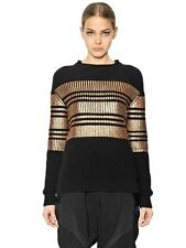 GIVENCHY METALLIC CASHMERE BLEND SWEATER JUMPER SMALL