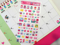 Cute Crystal 2D sticker Diary Deco Art Kids Party Colorful Variety Heart