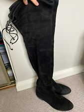 Stuart weitzman Women's Black Suede Thigh High Boots UK Size 5 EU  38