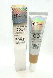 It Cosmetics CC+ Full Coverage Cream SPF 50+ ~ Tan ~ 2.53 oz / BNIB