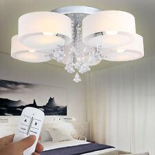5-flammig Kristall LED E27 Deckenlampe Deckenleuchte Mit Fernbedienung Lüster
