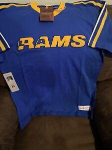 LA Rams Mitchell & Ness Throwback Shirt (Medium) Retails For $50