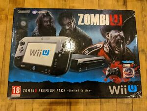 Nintendo Wii U BOX ONLY! ZOMBIU premium pack. Limited edition. Inserts.