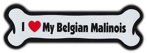 Dog Bone Magnet: I Love My Belgian Malinois | Cars, Trucks, More