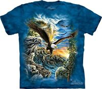 Find 11 Eagles T-Shirt by The Mountain. Hidden Bird Images Tee Puzzle S-5XL NEW