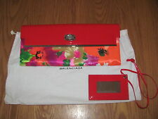 BALENCIAGA Floral Patent Leather/Textile Bag/Clutch/Wallet NWT 100% AUTHENTIC