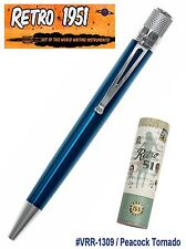 Retro 51 #VRR-1309 / Lacquered Peacock Tornado Pen / Formerly Known As Turquoise