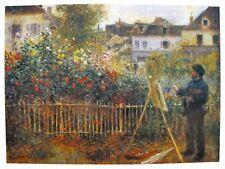 """Pierre Auguste RENOIR """"MONET PAINTING"""" Signed Art Lithograph"""