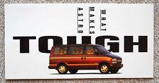 "1996 CHEVROLET ASTRO Van Minivan Sales Brochure Catalog ""Combined US Shipping"""