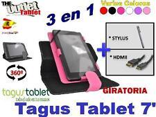 "PACK FUNDA PARA TAGUS TABLET 7"" + HDMI + STLYUS GIRATORIA UNIVERSAL"