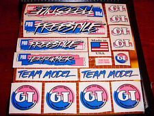 1987 GT BMX Pro Freestyle Tour Team PFT, restoration decal set on clear PINK
