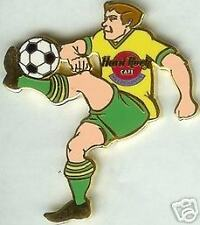 Hard Rock Cafe MELBOURNE 2000 Olympia Soccer Player PIN - Olympics Kicking Ball!