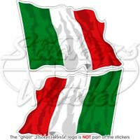 "ITALIAN Flying Flag ITALY Bumper Stickers 75mm (3"") x2 Decals"