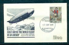 "GB 1979 NPC Warwick Philatelic Exposition ""Zeppelin Mail"" cachet for 50th ann."