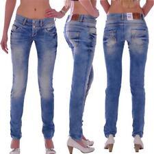 Cipo & Baxx cbw 347a señora tubos Blue Jeans Hose slim fit señora vaqueros Jeans Hose
