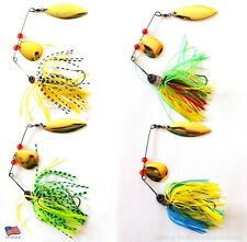 Lot of 4 New Fishing Lures Hard Lure Spinnerbait Fishing Tackle Bass