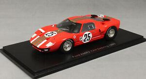Spark Ford GT40 Sebring 12 Hours 1966 Whitmore & Gardner S2773 1/43 NEW