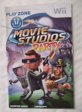 54106 Instruction Booklet - Movie Studios Party - Nintendo Wii (2008) RVL-RVQP-U
