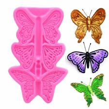 BUTTERFLY Silicone Fondant Cake Topper Mold Mould Chocolate Candy Baking 2