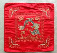 Chinese Peking 100%Hand embroidered bats dragon Embroidery pillow cover