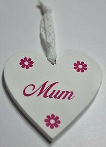 Wall hanging heart decoration 'mum'