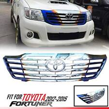 TITANIUM SILVER FRONT GRILL GRILLE TOYOTA HILUX FORTUNER 2012-2015 SW4 KUN SUV