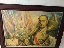 parte oficial final de guerra cuadro de franco 1939 generalisimo caudillo
